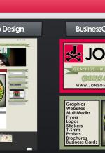 JonsonDesigns Web&BusinessCards - Dreamweaver/Illustrator/Photoshop