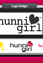HunniGirl Logo - Illustrator/Photoshop